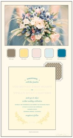 how to pick your wedding colors and then use them in your invites.