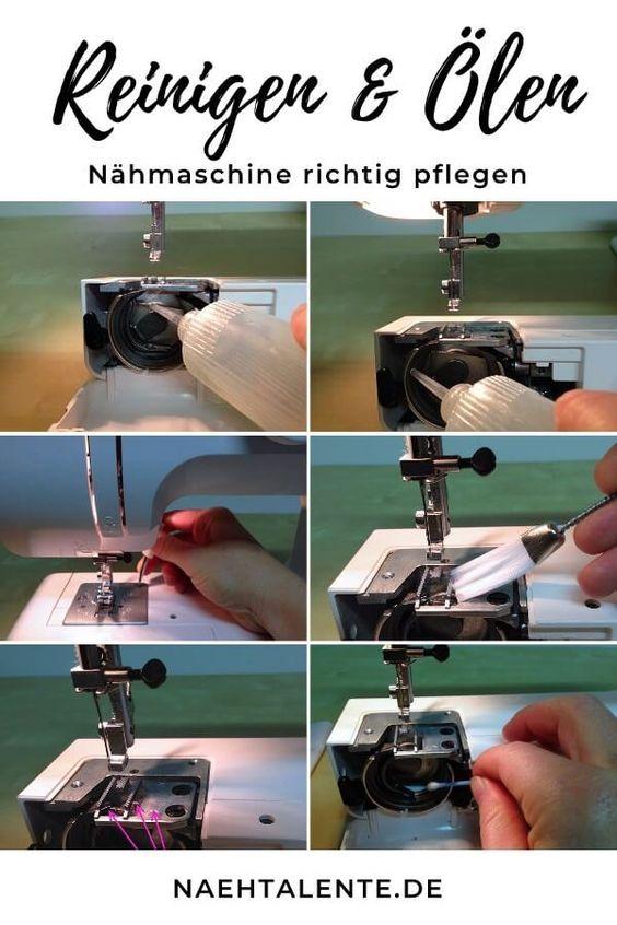 Nettoyage et huilage de la machine à coudre – conseils d'entretien et de maintenance Talents de couture   – nähmaschine pflegen