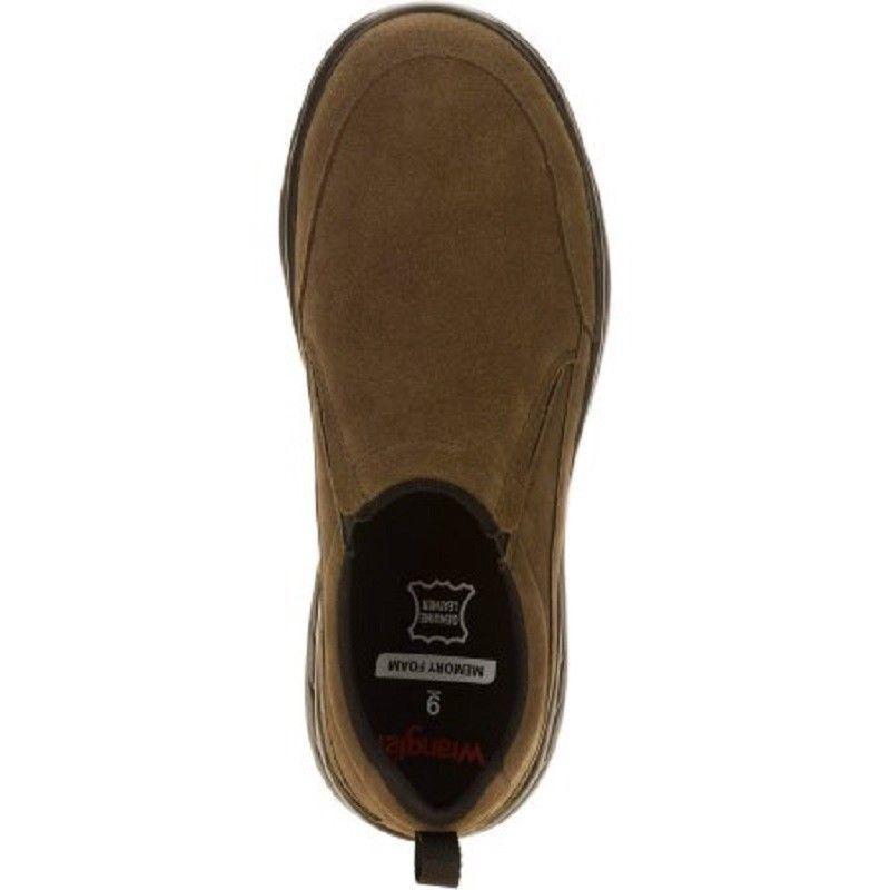 Wrangler Mens Brown Leather Casual Memory Foam Comfort Slip