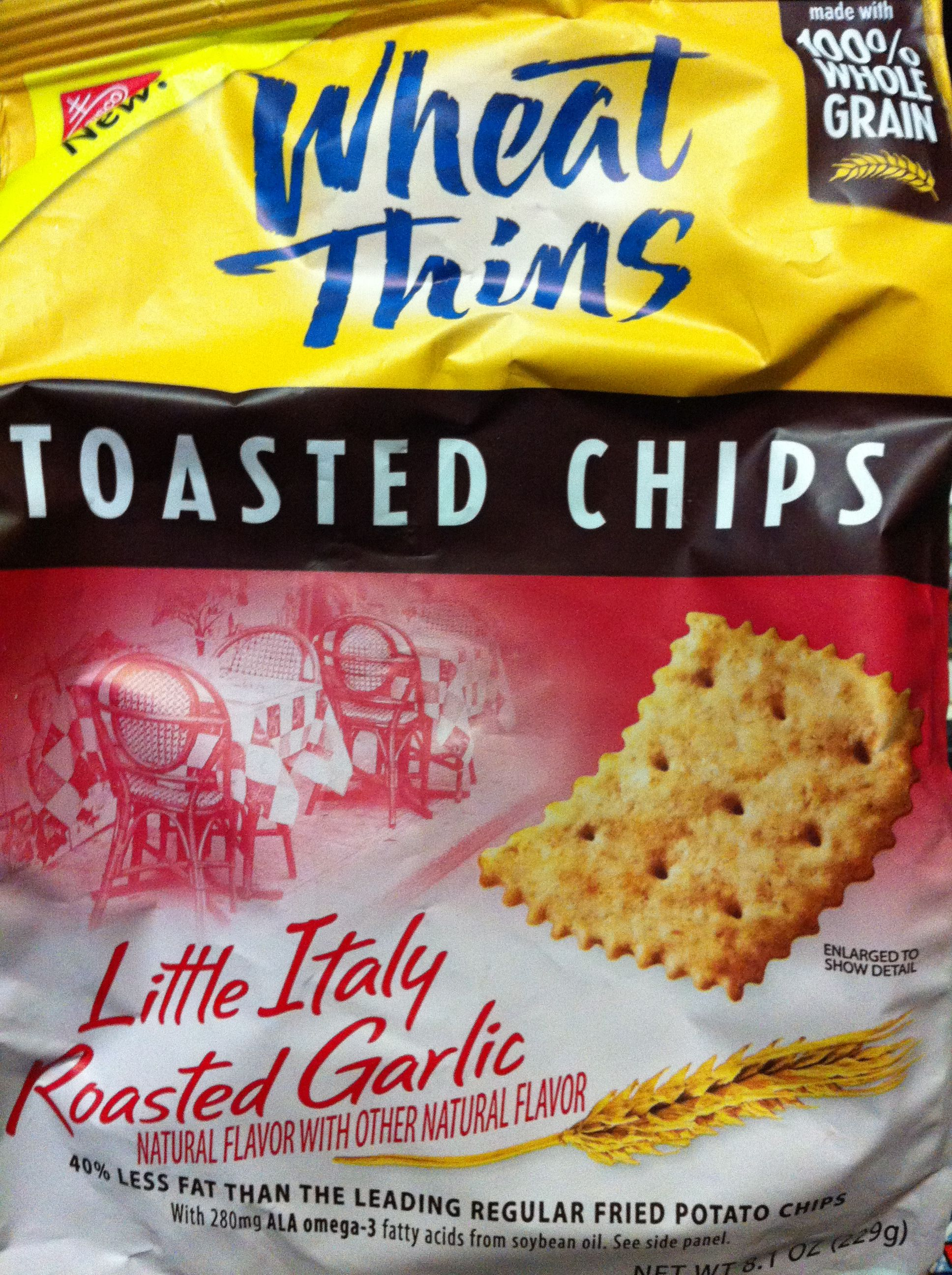 Nabisco Wheat Thins Toasted Chips-Little Italy Roasted Garlic