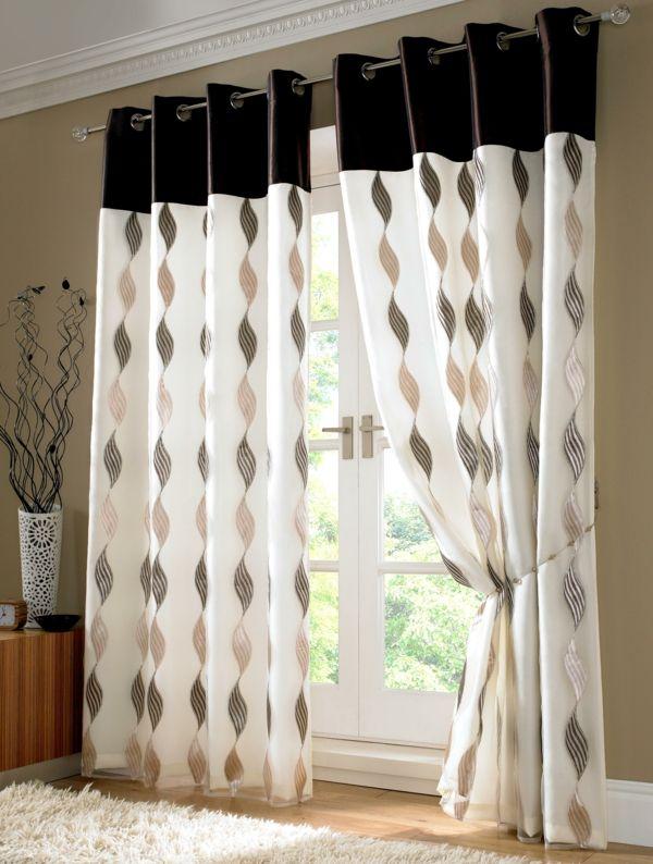 wohnzimmer ideen : wohnzimmer ideen gardinen ~ inspirierende ... - Vorhange Wohnzimmer Braun