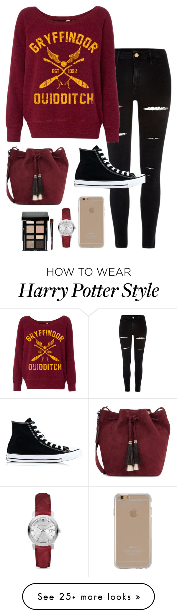 """H"" by taylahjordan on Polyvore featuring River Island, Converse, Loeffler Randall, Agent 18, Burberry and Bobbi Brown Cosmetics"