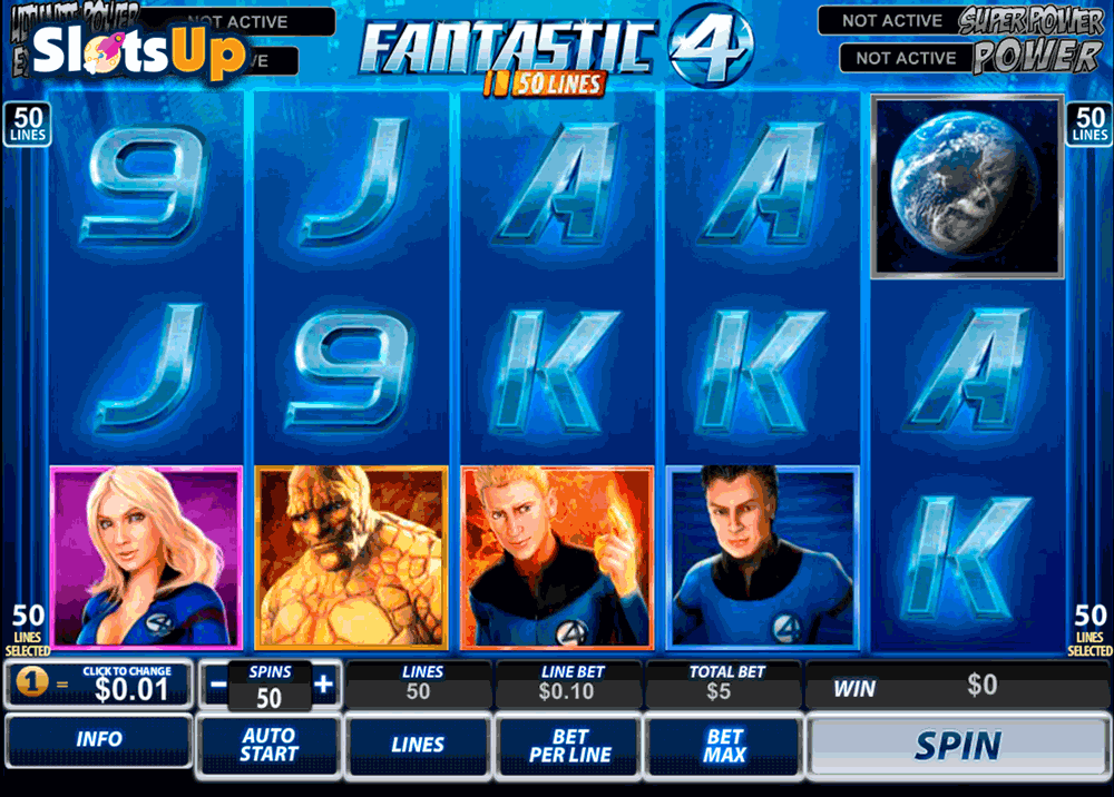 Fantastic Four 50 Lines Slot by Playtech Play FREE at