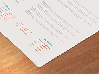 Resume Graphic Design Advertising Resume Design Typography Design