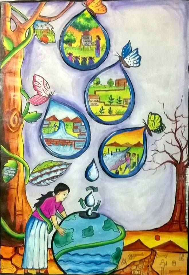 A Drawing On Save Water