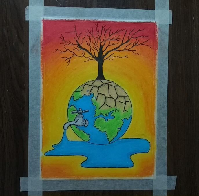 How to draw Save Water Save Nature Step by Step - ArtPixma ...