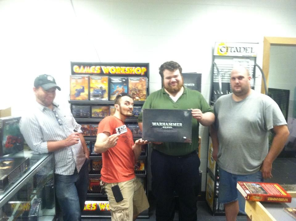 Some players after one of our Warhammer 40k tournaments in Grandville, MI.