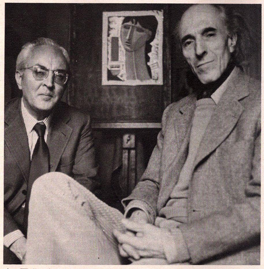 1971 con lo scrittore Piero Chiara