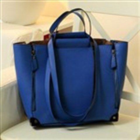 Stylish Handbag Hand Bag + Smaller Sling Shoulder Bag Crossbody Bag for Girl Lady - Blue