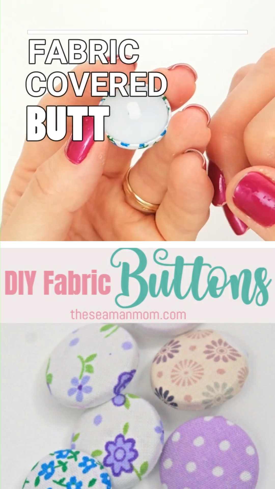 Photo of DIY FABRIC BUTTONS