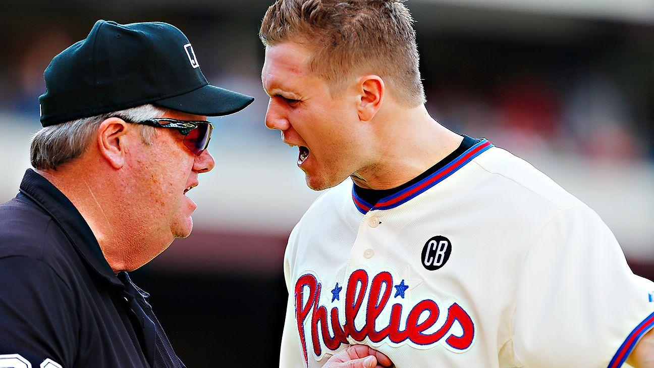 Mlb Suspends Umpire Who Grabbed Papelbon Mlb All Star Phil