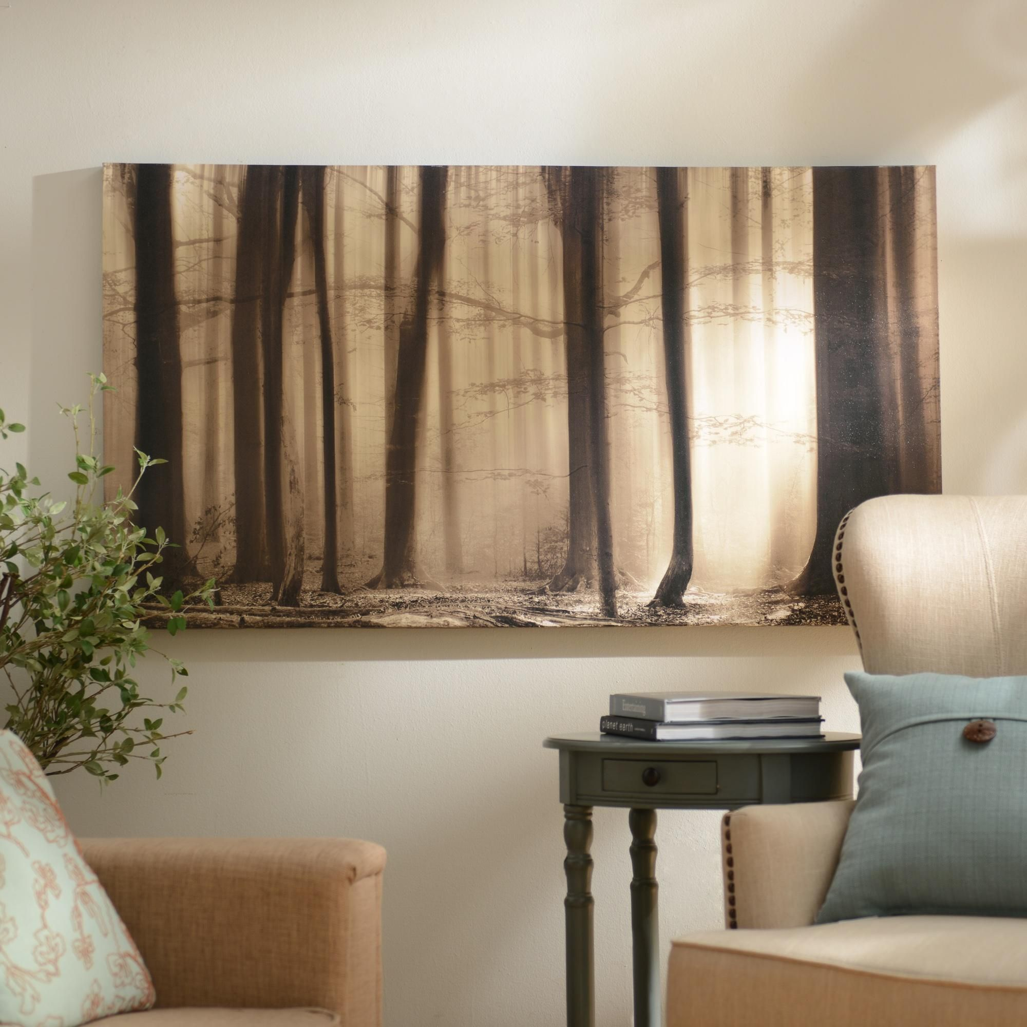 living room ideas bring peace and relaxation to your home with kirklands morning mist canvas art print this