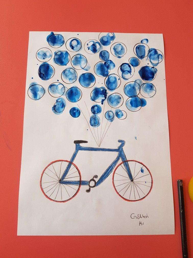 Parmak Boyama Bisiklet Balon Etkinlik Okul öncesi Ozel Eğitim