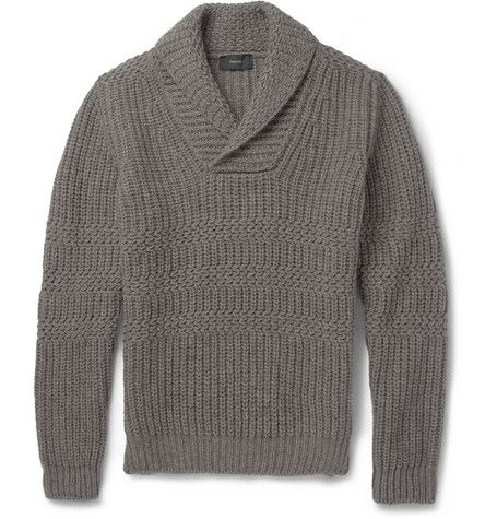 Incotex Zanone Zig-Zag Knit Wool and Yak-Blend Sweater | MR PORTER