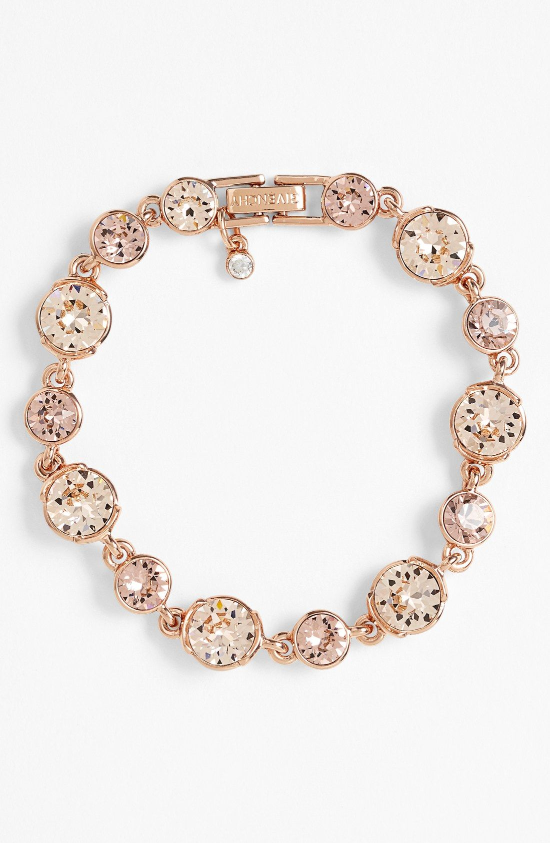 Such a dainty rose gold crystal bracelet.  116c94d0a