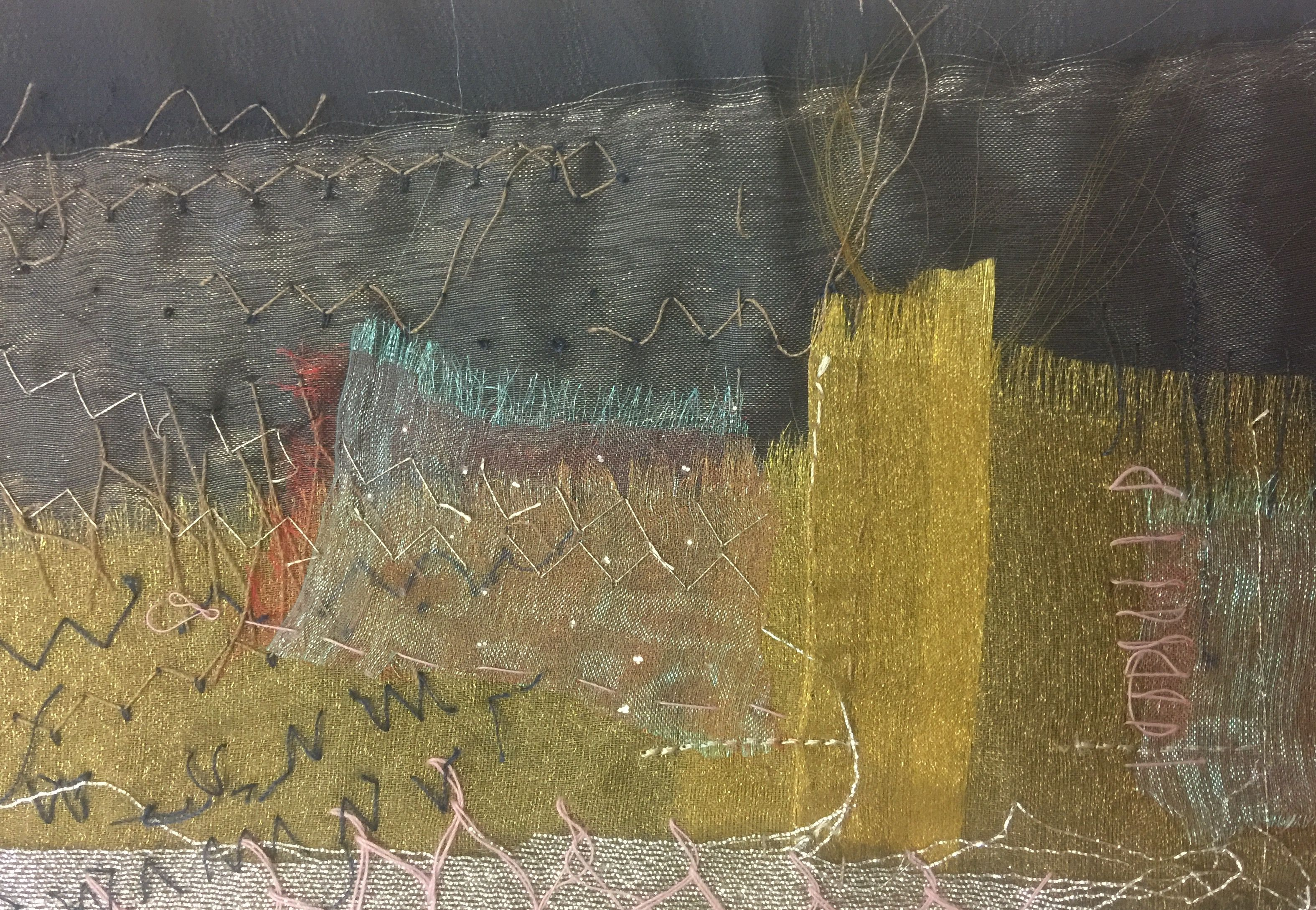 Detail.  Textile Landscape-Fiona  Venning