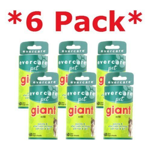 #Evercare Giant PET Hair Roller REFILL - 6 Pack Keep your clothes, car and home furnishings looking their best with the Evercare Giant Lint Roller Refills. Extr...
