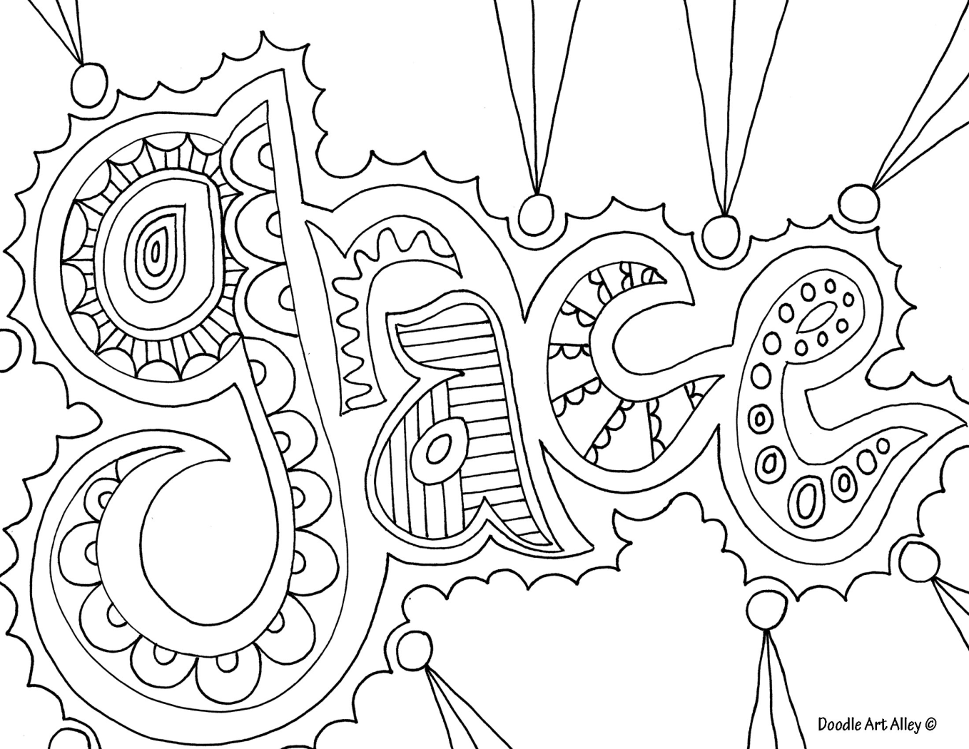 Printable coloring pages with words - Love This For My Teen Girls Would Love To See What They Could Create Out Adult Coloring Pagescoloring