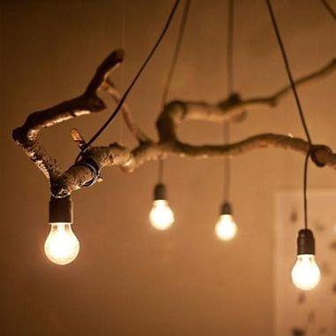 DIY Kupfer-Lampe Driftwood chandelier, Woodwork and Driftwood - lampe für wohnzimmer