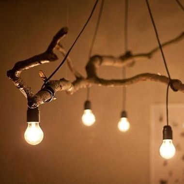 DIY Kupfer-Lampe Driftwood chandelier, Woodwork and Driftwood