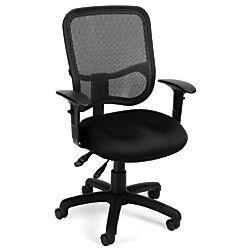 OFM Mesh Comfort Series Fabric MidBack Task Chair With Arms Black OFM Mesh Comfort Series Fabric MidBack Task Chair With Arms Black