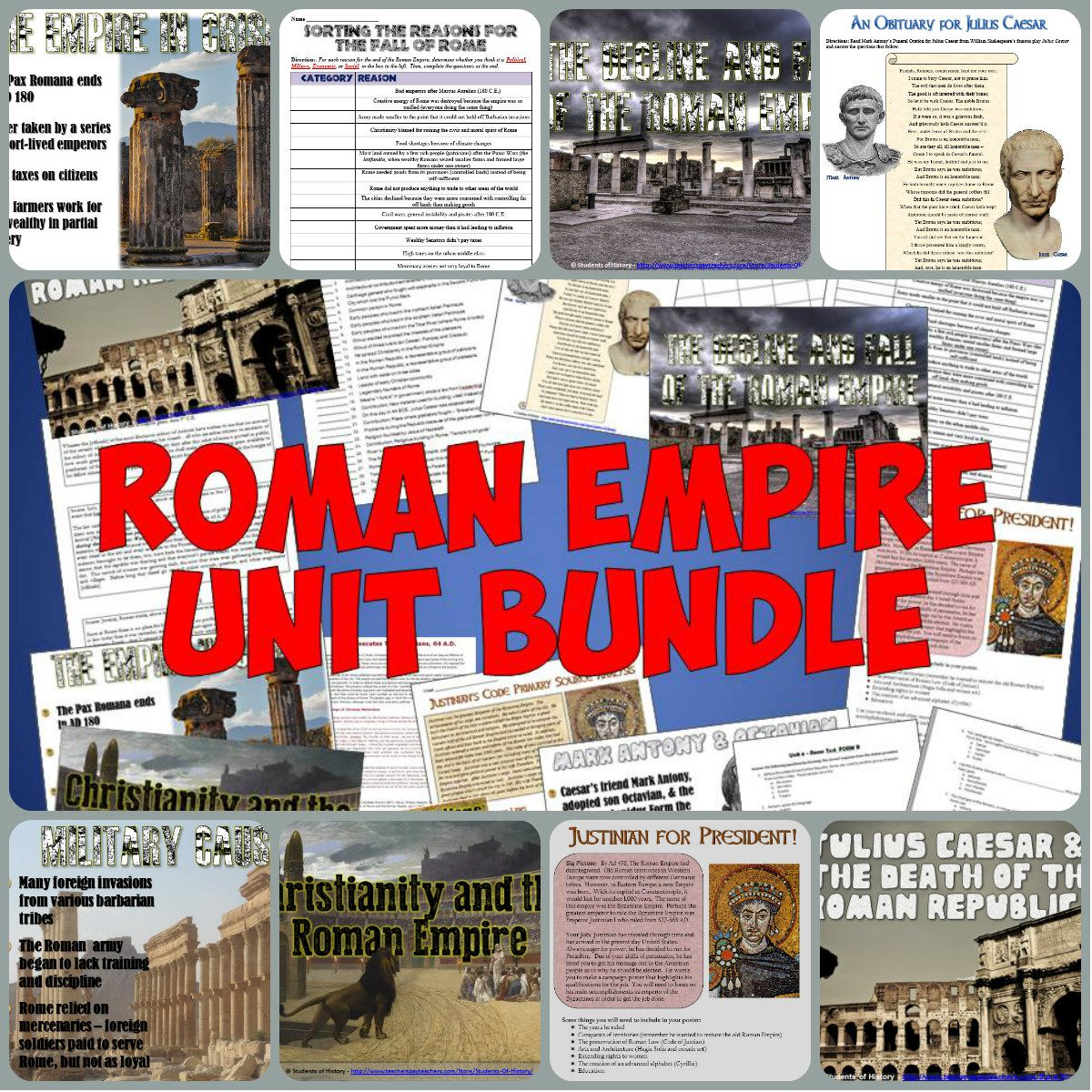 Roman Empire Complete Unit Bundle