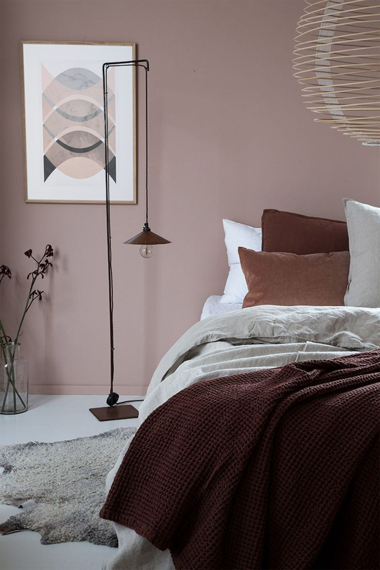 Minimalist Art Print Pink And Grey Print Abstract Prints Wall Decor Home Decor Geometric Design Modern Art Print Minimalist Art Print Dusty Pink Bedroom Pink Bedroom Walls Home Bedroom