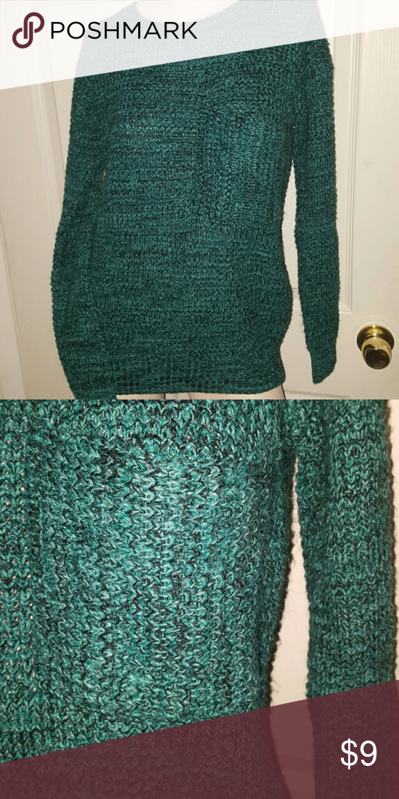 Forever 21 sweater Teal and black sweater with front pocket 80% acrylic and 20% nylon Forever 21 Sweaters