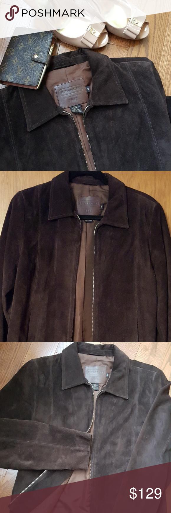 Coach suede leather jacket Leather jacket, Jackets
