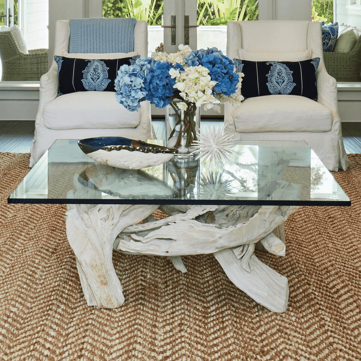 Hampton Driftwood Coffee Table Base To Accommodate 60 Square Glass Top Coffee Table Driftwood Coffee Table Living Room Coffee Table [ 1200 x 1200 Pixel ]