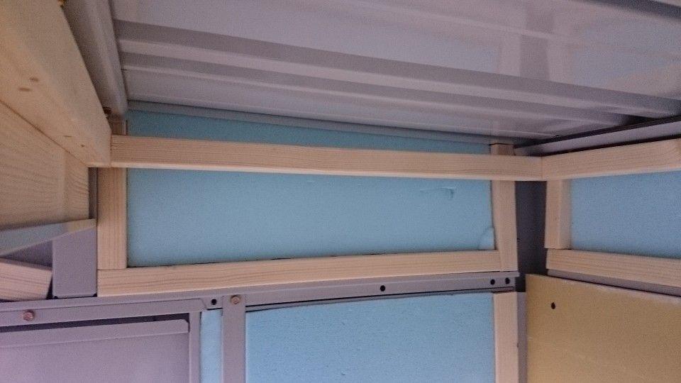 ガレージ内装diy Part5 天井作り 骨組み作り 断熱材 石膏ボードと
