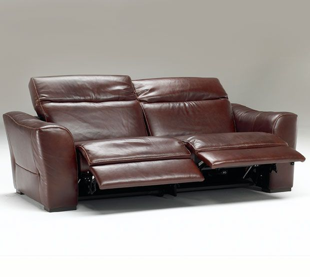 Natuzzi Leather Collection Lambert Sectionals Recliner Reclining Sofa Media Rooms