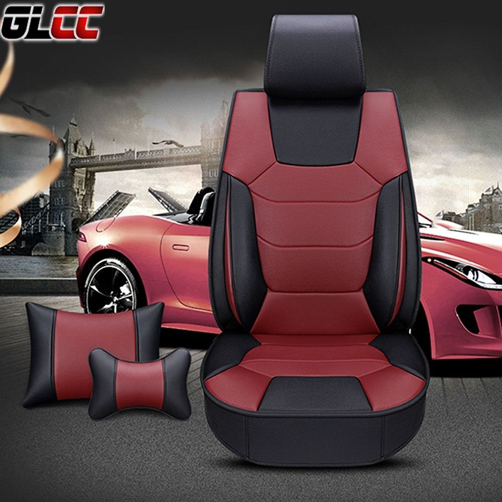 Car Toilet Seat Cover Universal Black Red Black Orange Black Coffee Black In 2020 Leather Seat Covers Car Seat Cover
