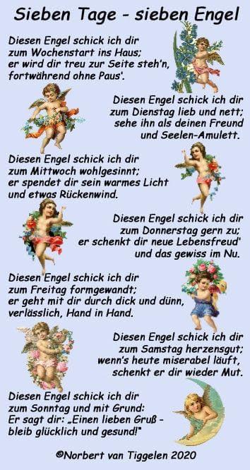 7 Tage 7 Engel Coole Spruche Bilder Spruche Engel Weisheiten Spruche