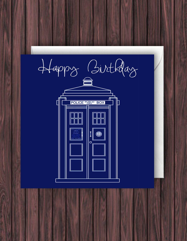Tardis Card Doctor Who Birthday Card Dr Who Birthday Card Etsy Doctor Who Birthday Dr Who Birthday Card Funny Birthday Cards