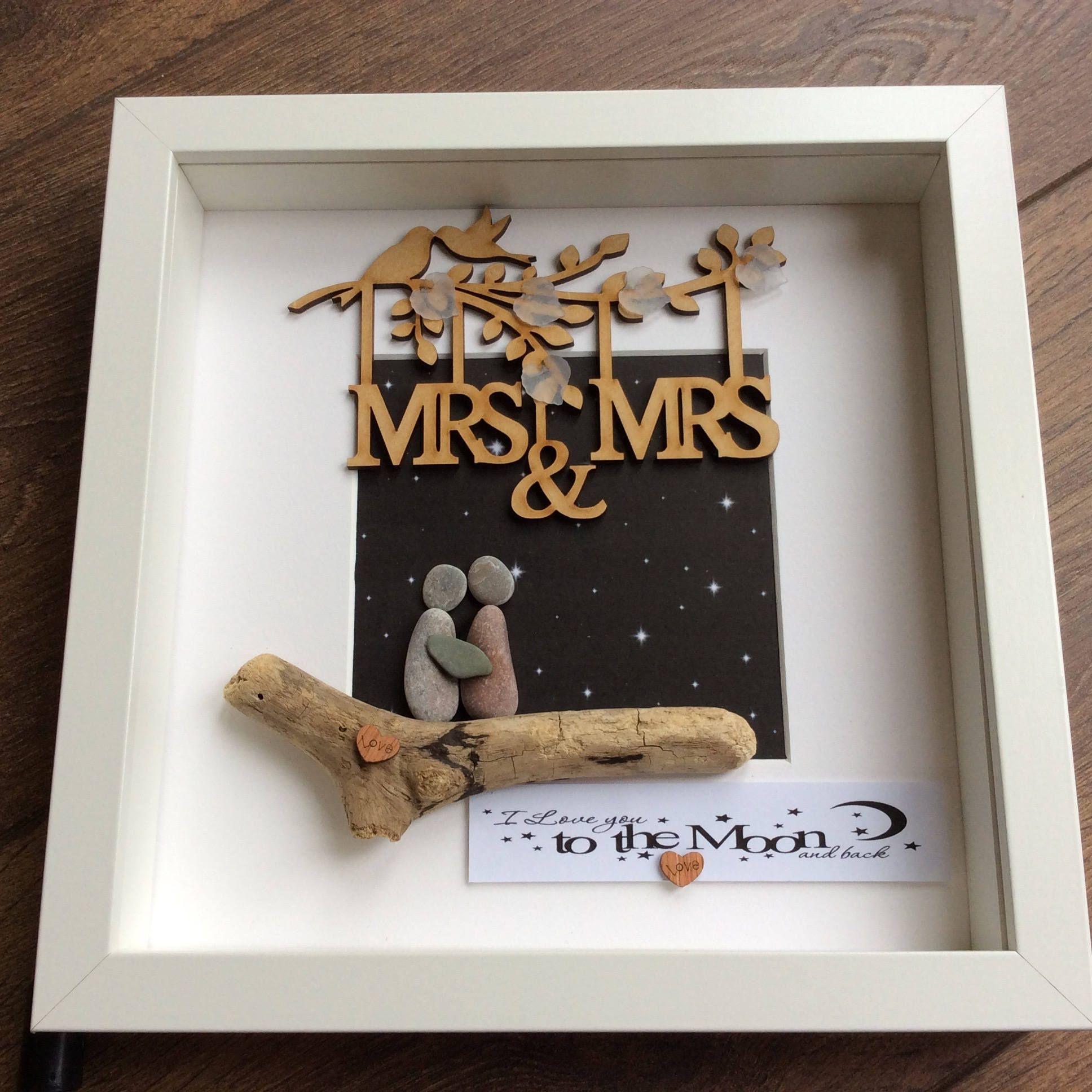 Pebble Art Mrs An Wedding Gift