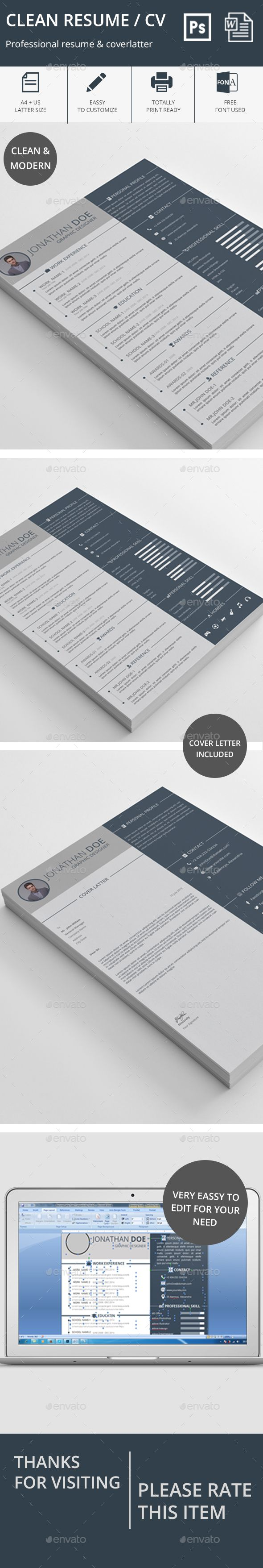 clean resume resume cleanses and stationery clean resume resumes stationery here graphicriver net