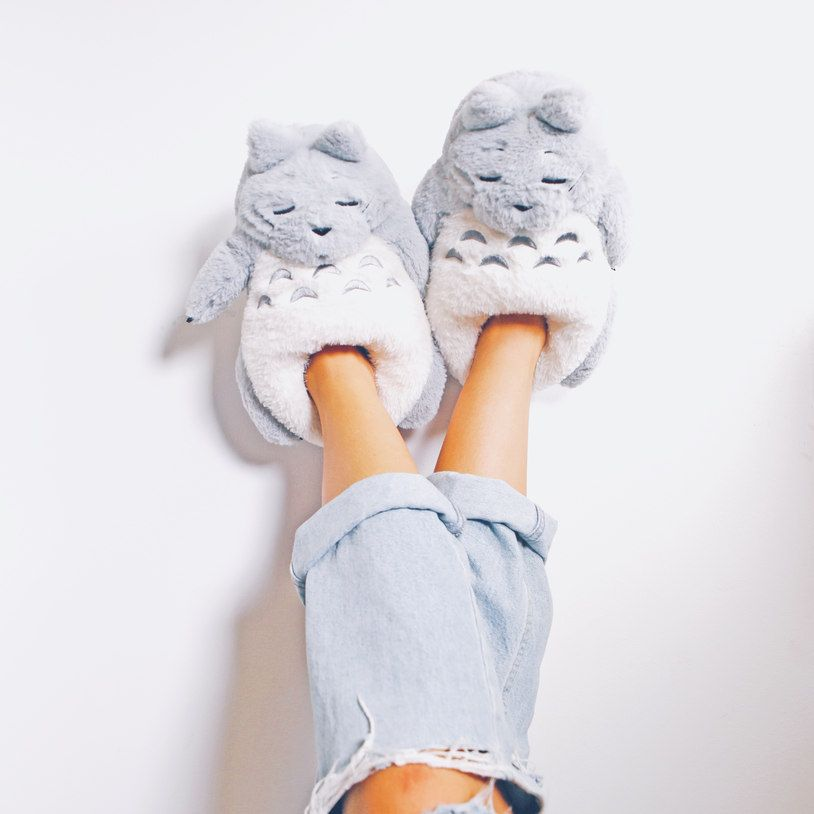 Stop traipsing around in bare feet gathering up soot creatures slip your  tired toes inside these soft My Neighbour Slippers Not sporting Totoro s  usual ... 9fcbcf7d4