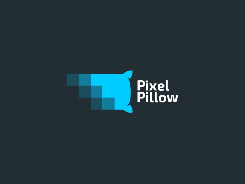 pixel pillow pixel logo design creative