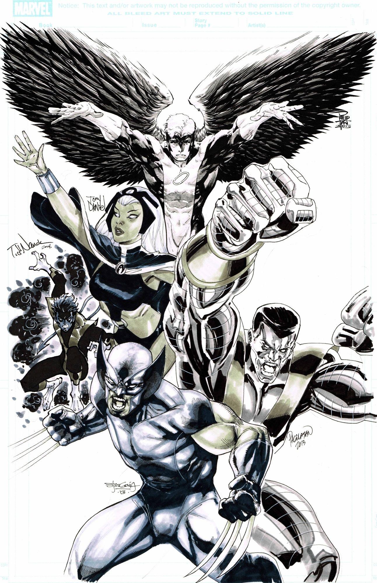 X Men By Philip Tan Todd Nauck Stephen Segovia Tony Daniel Carlo Pagulayan In 2021 X Men Xmen Art Comic Art