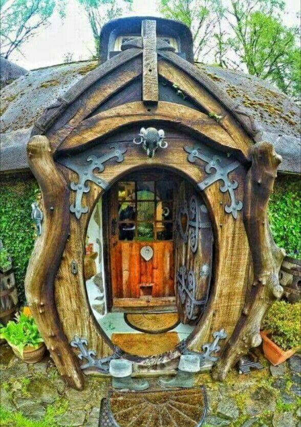 Schottische Möbel hobbithaus gebaut irgendwo in schottland resort
