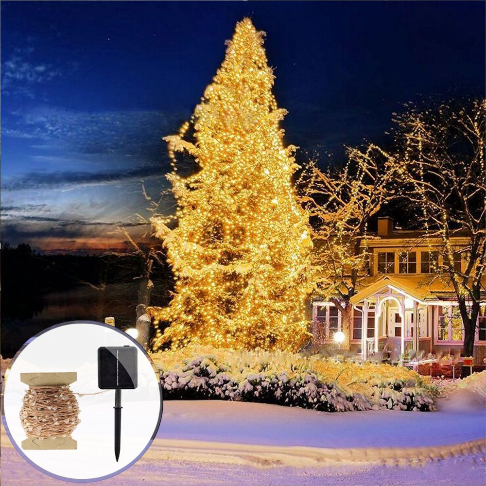 1189 solar powered 10m 30m 50m copper wire led string lights outdoor fairy lights ebay home
