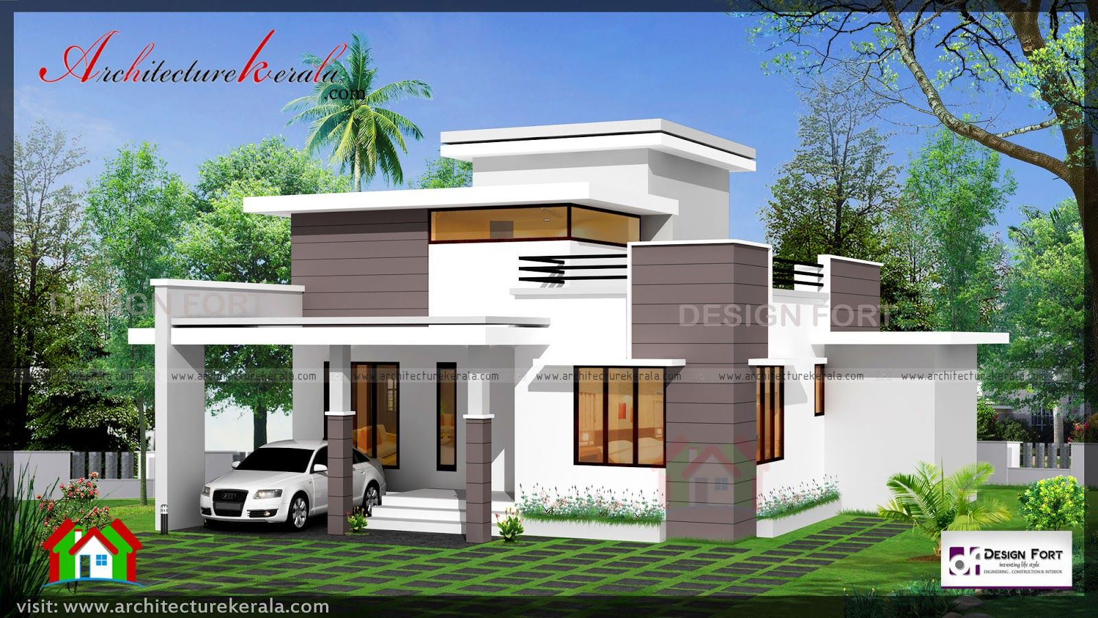 1000 Square Feet House Plan And Elevation Two Bedroom
