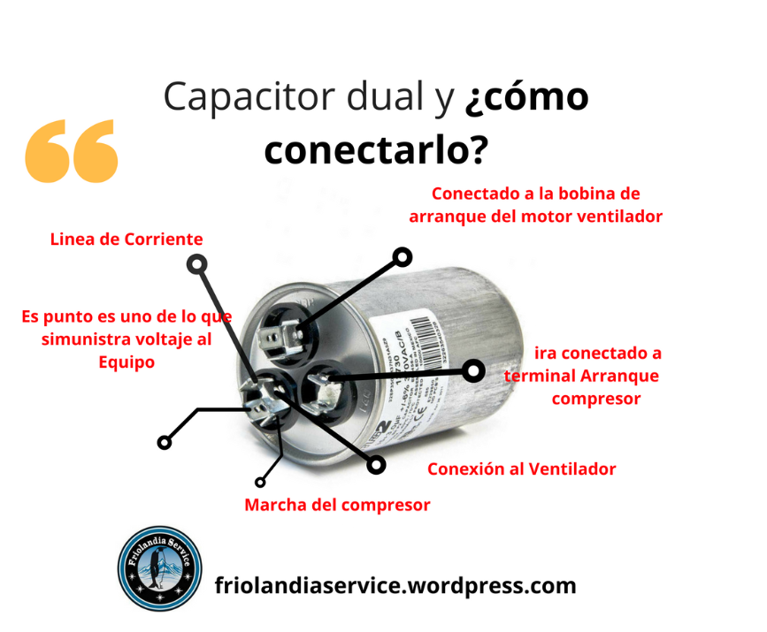 Capacitor Dual Como Reemplazar Friolandia Service Tipos De Seguridad Arranque Ordenar Cables