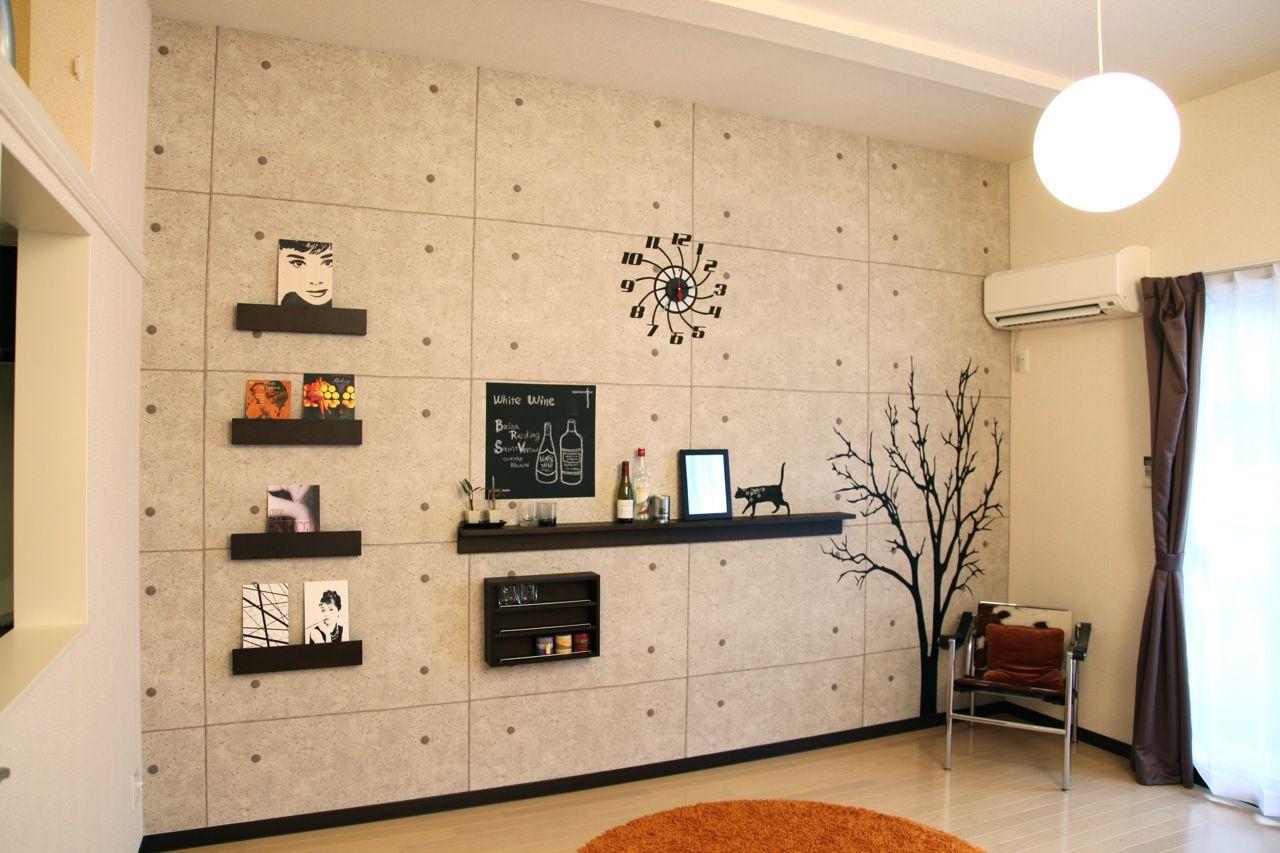 コンクリート打ちっぱなし壁紙 カフェ インテリア 内装