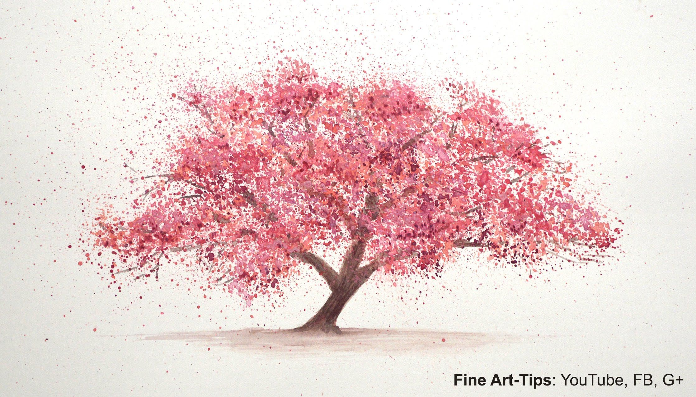 Video Tutorial How To Paint A Cherry Tree In Watercolor