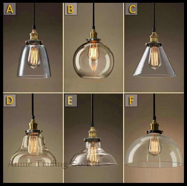 AC100 240V Modern Glass Lamp Shade Pendant Lights Loft Ikea Art Deco Lustres Lamparas Suspended Luminaire Retro Living