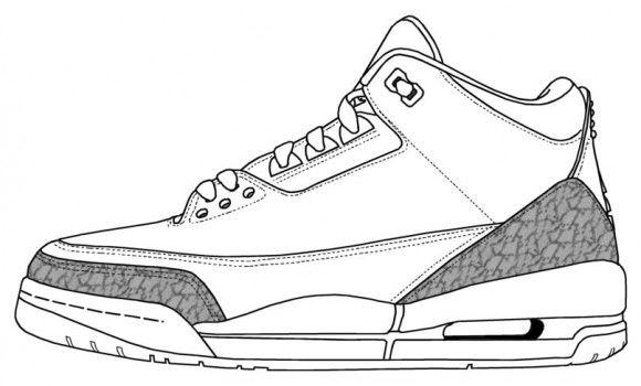 air-jordan-3-2014-retro.jpg (580×350) | Sneakers drawing ...