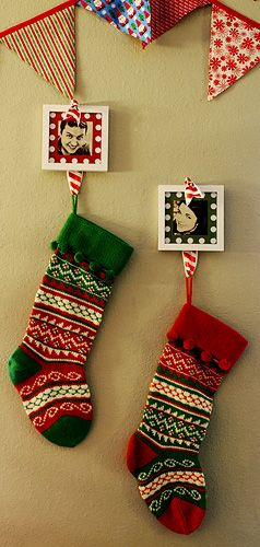 stocking hanging alternatives for those of us without fireplaces seasons christmas stocking. Black Bedroom Furniture Sets. Home Design Ideas