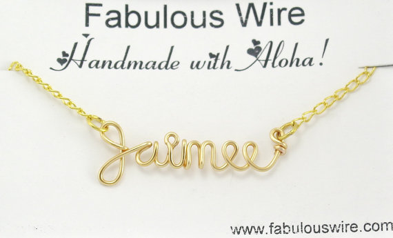 c1c36e28c0967 Personalized Name Necklace, Custom Hand Made Wire Name Word Jewelry ...